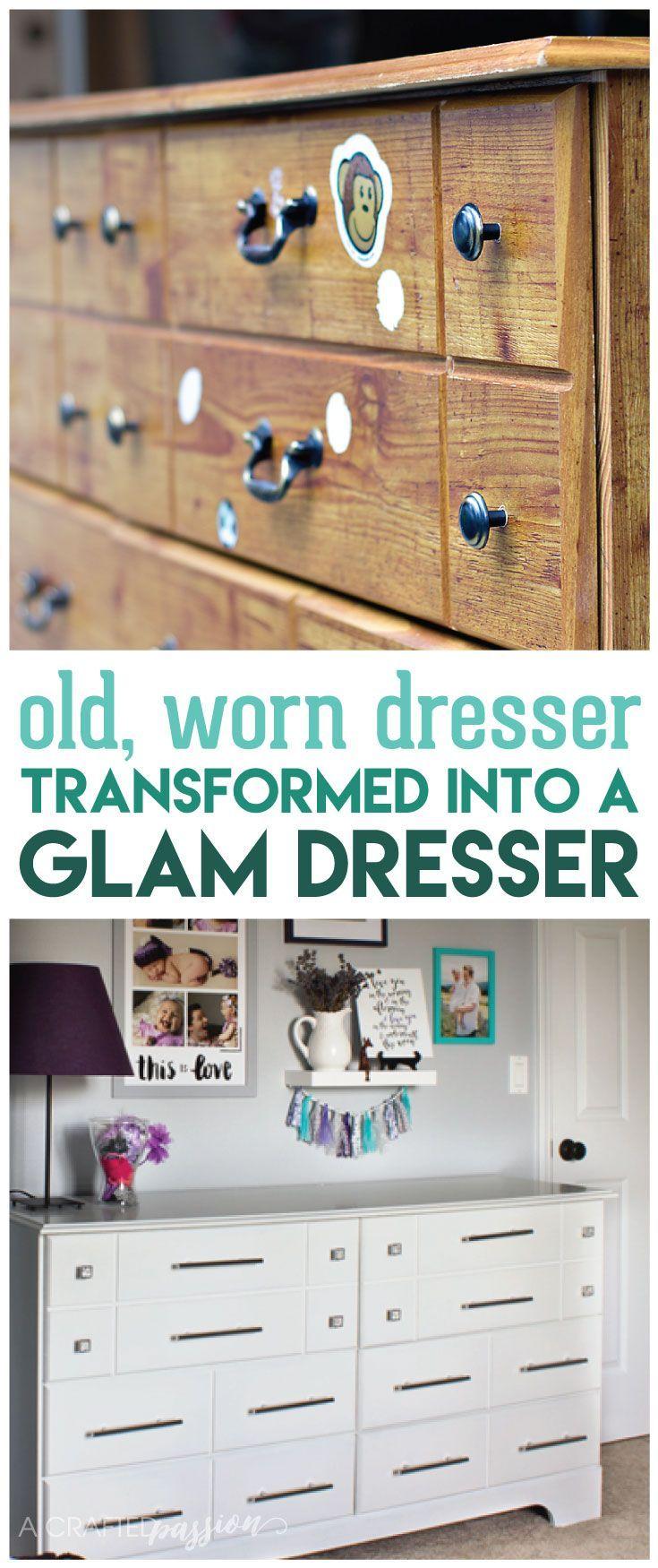 Thrifted Dresser Makeover | Before & After | One Room Challenge | DIY Furniture Makeover