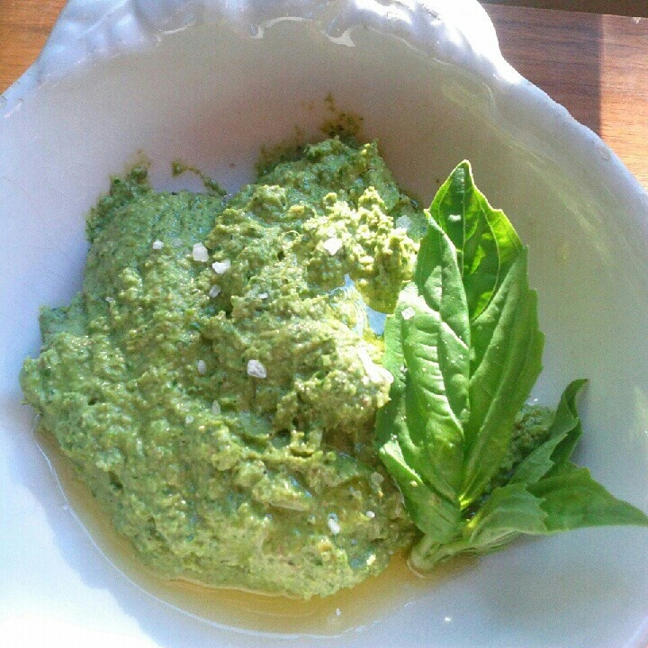 Homemade Swiss Chard Pesto.