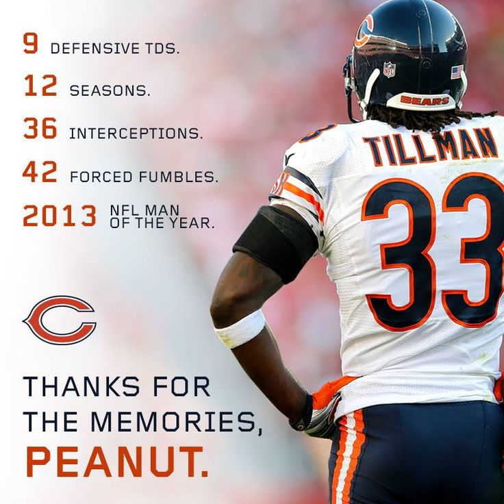 We will miss you in a Bears uniform....