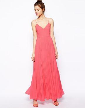 ASOS Cami Pleated Maxi Dress