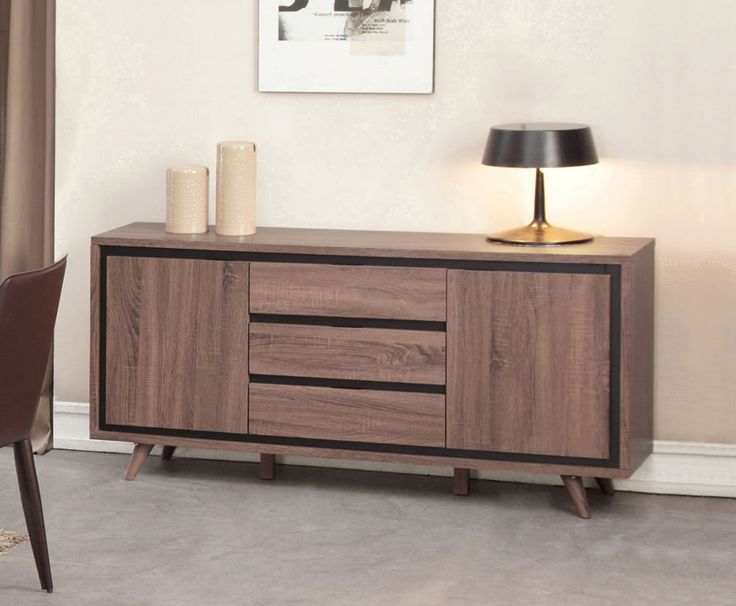 Sheraton Walnut Finish Sideboard - UK delivery 794.25