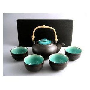 Japanese Tea Set - love the modern/traditional look, and the matching tray