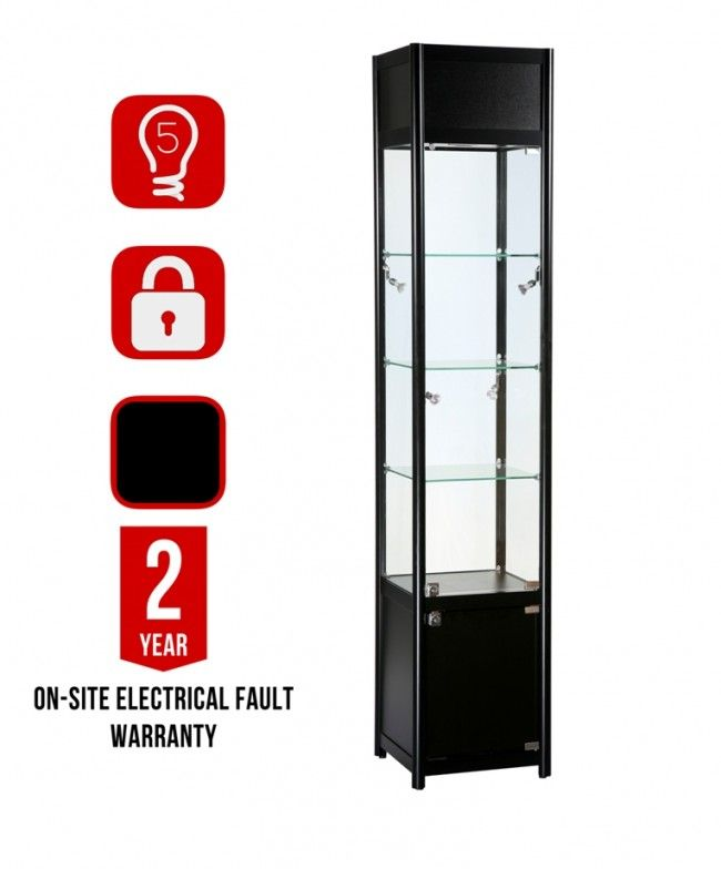 GB-TC-400 Black  Display Cabinet with icons