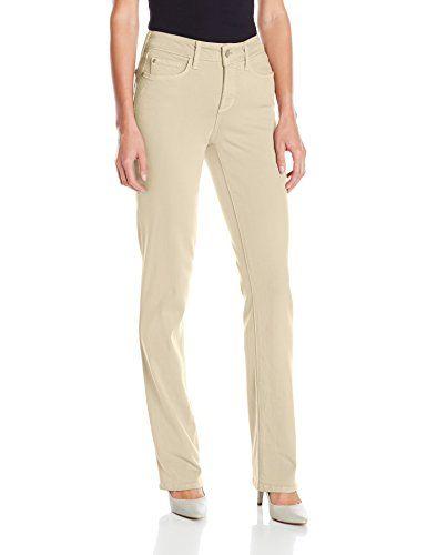 NYDJ Women's Marilyn Straight Leg Jeans, Feather, 4 NYDJ