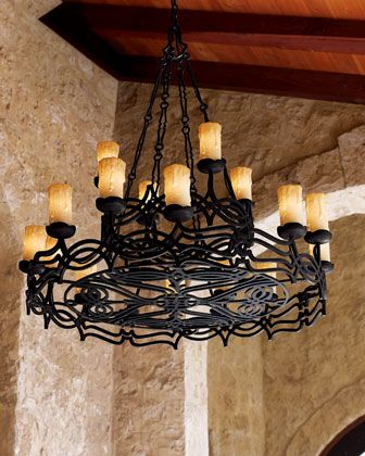 Wrought Iron Chandelier By John Richard Collection At Horchow