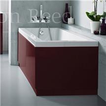 Hudson Reed High Gloss Burgundy Side Bath Panel - 5 Size Options