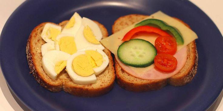 Sunn frokost - to brødskiver