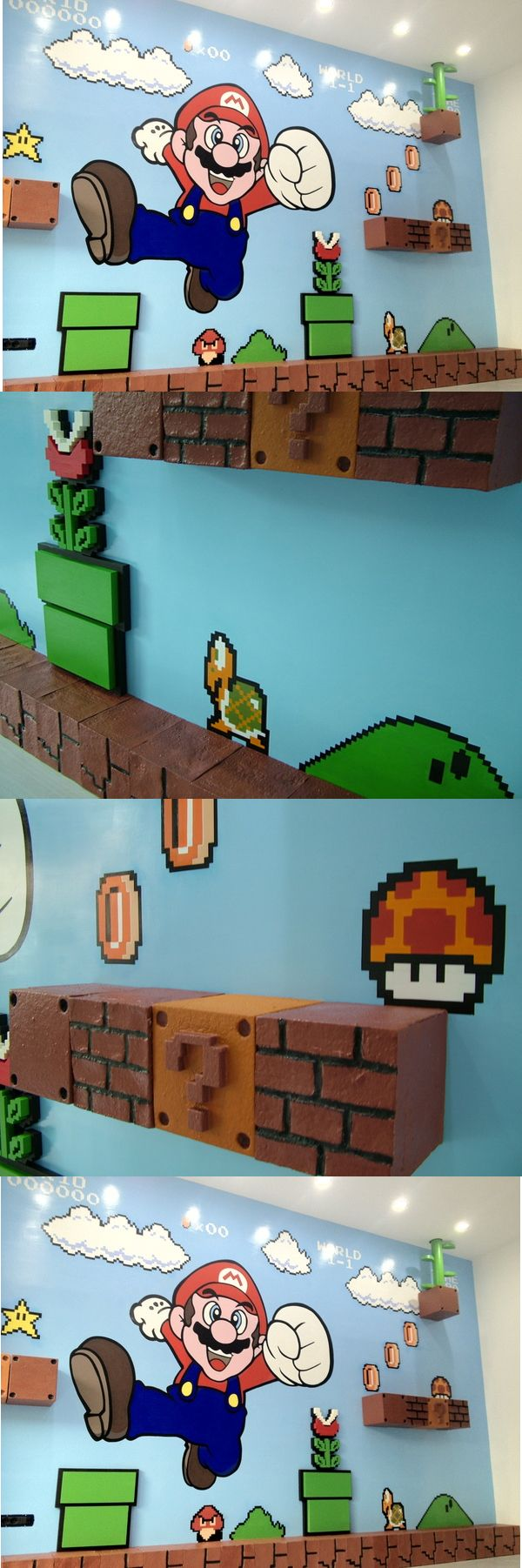 Amazing 3D Super Mario Bros Mural 6                              …