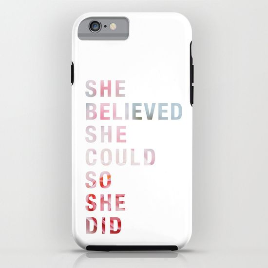 SHE BELIEVED iPhone & iPod Case