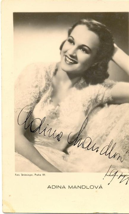 Great movie star of the first Czechoslovak Republic: Adina Mandlova
