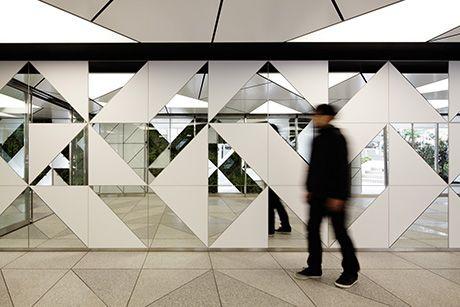 mirror / opaque facade or wall