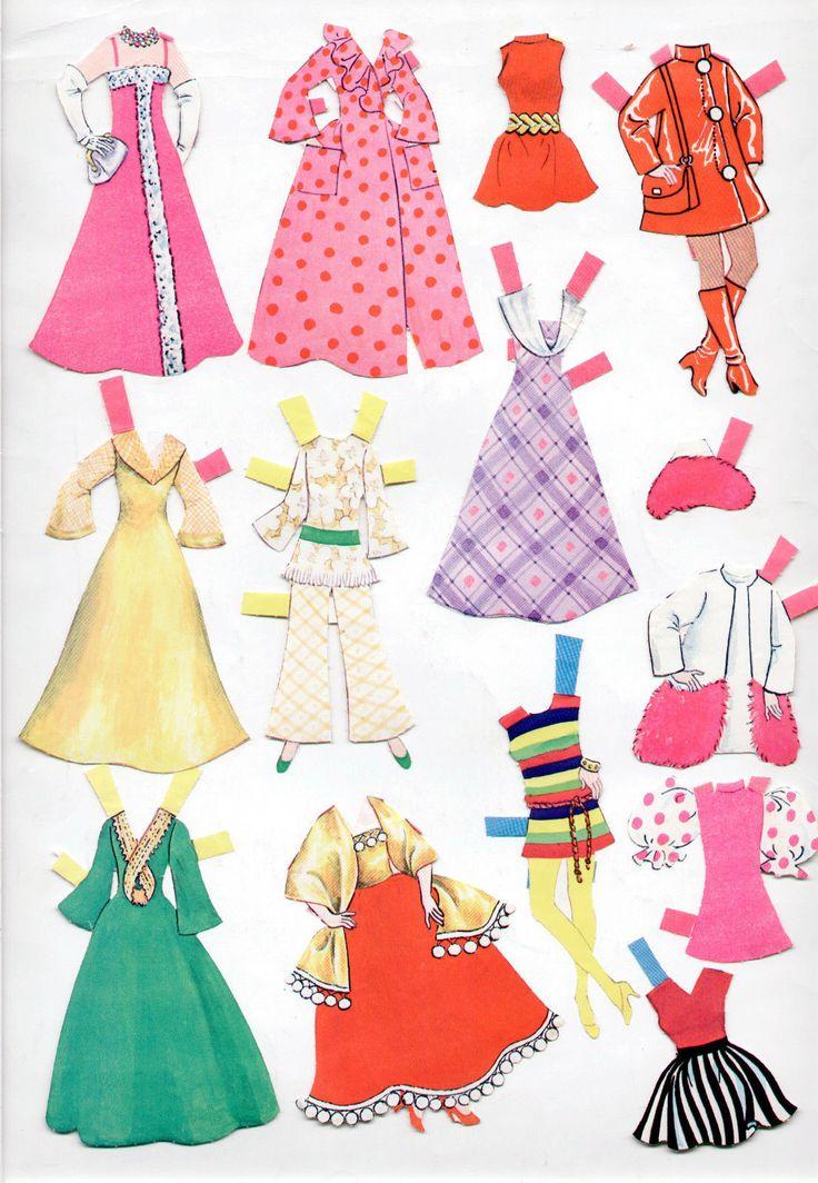 Vintage Whitman Topper Dawn Paper Dolls Featuring Glori Angi Dale 1971 CUT   eBay
