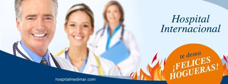 El equipo del Hospital Internacional Medimar te desea unas Felices Hogueras.