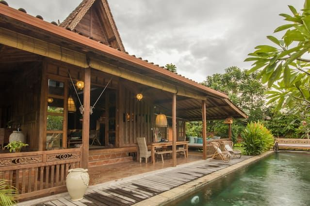 Beautiful Authentic Teak 3bd Villas For Rent In Ubud Beautiful Villas Bali Style Home Holiday Home