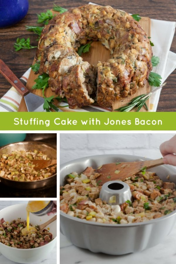 Put your bundt pan to use with this savory bacon stuffing cake that's packed with caramelized leeks and crimini mushrooms.