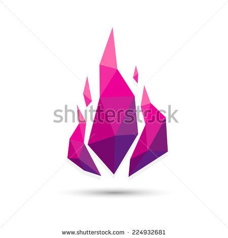 Low poly Abstract fire triangle purple geometric design