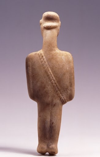 Cycladic figurine of a hunter or warrior (post-canonical … - Google Art Project