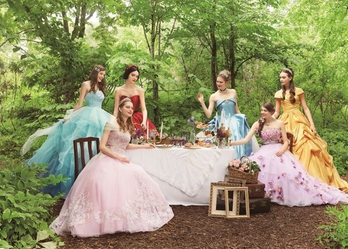 ディズニー公認!プリンセスがモチーフのドレスが可愛すぎ