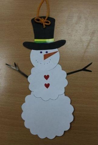 Модный снеговик - Поделки с детьми | Деткиподелки