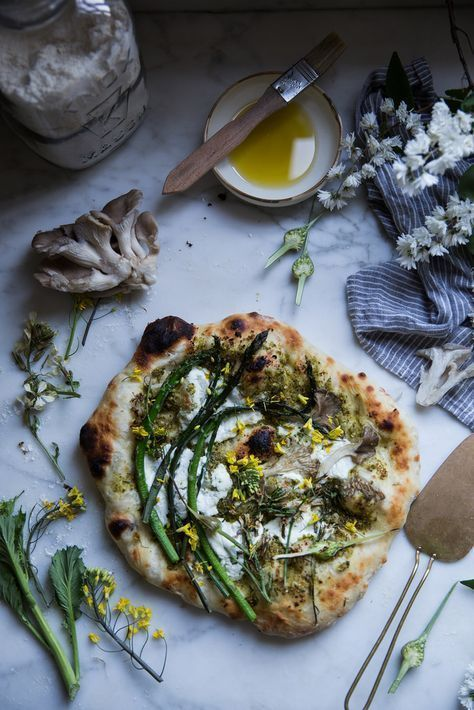 Local Milk | The Essential Ingredients of an Inspired Gathering & Asparagus + Ricotta + Garlic Scape Pesto Flatbread #pizza #food #meal #inspiration
