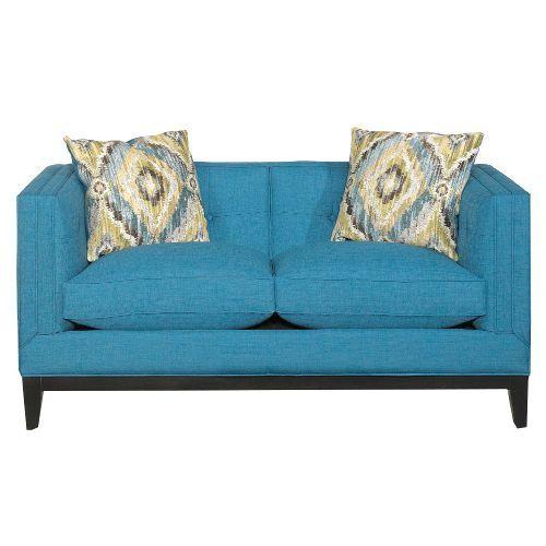 S7426/BENPEACOCK/LV Mid-Century Modern Peacock Blue Loveseat - Truman