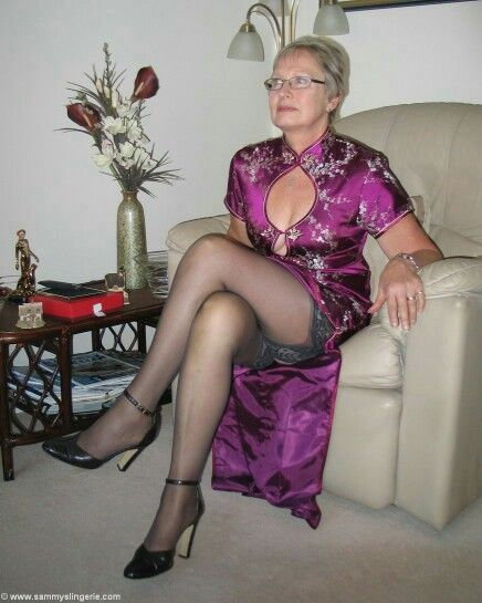 Mature granny in fetish like