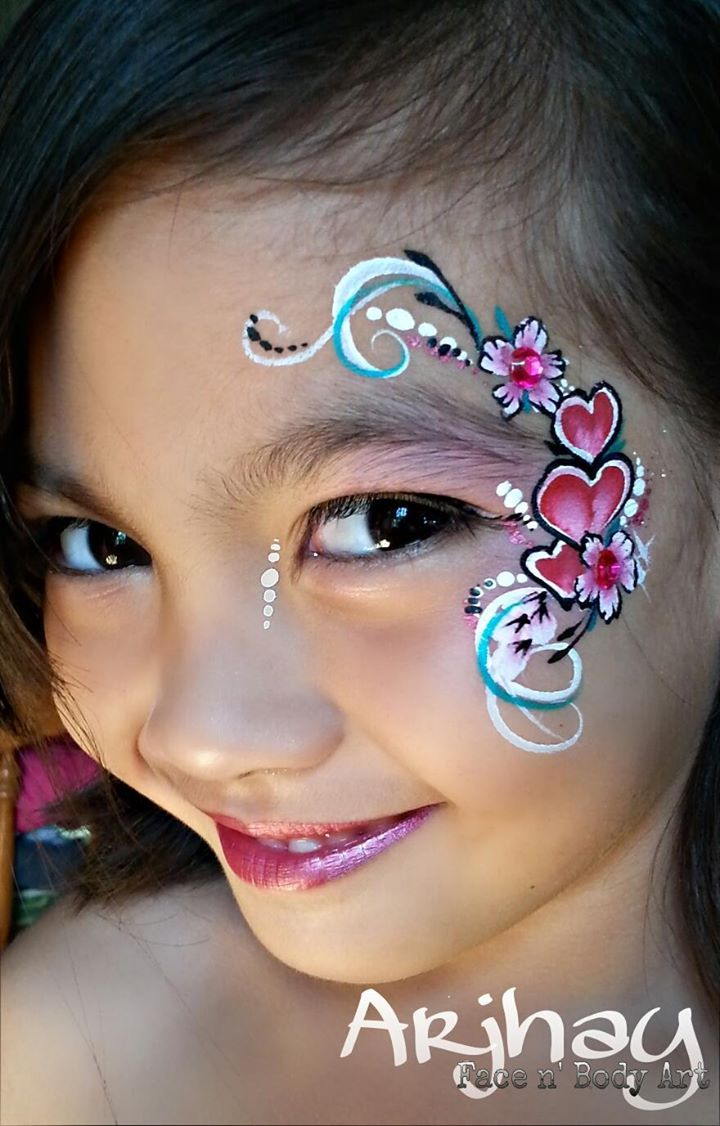 135 best images about face paint valentine 39 s day ideas on for Latest face painting designs
