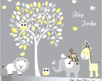This appealing childrens wall decal set is sure to please any child! Dimensions: Tree 60 Wide x 80 High Tree Branch 30 Wide x 20 High