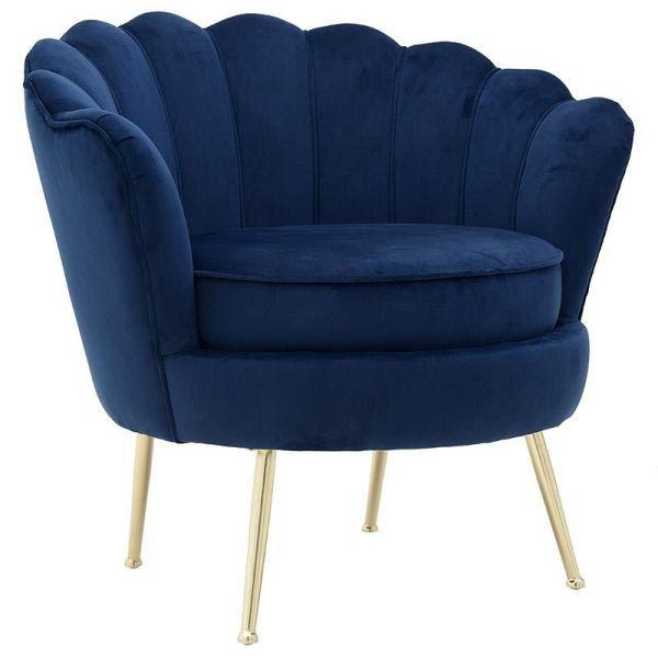 Muschelsessel Muschel Sessel Lounge Chair Lucilla Aus Samt In Blau Sessel Clubsessel Und Samt Sessel