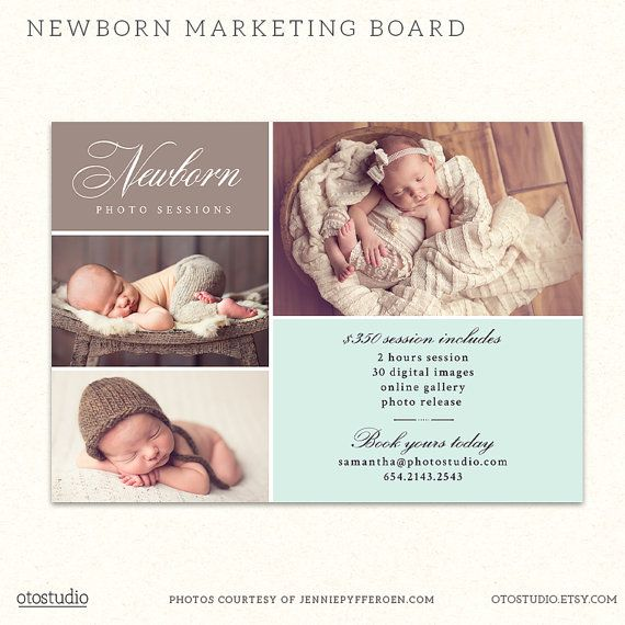 Newborn Mini Session Marketing Board Template  by OtoStudio