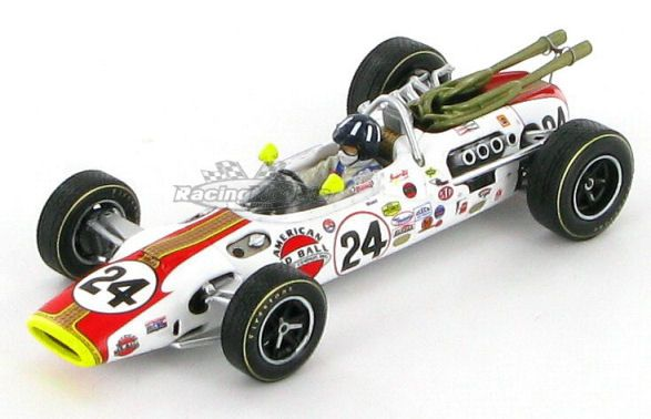 Model of the Lola T90 Ford in which Graham Hill won the 1966 Indianapolis 500 race.