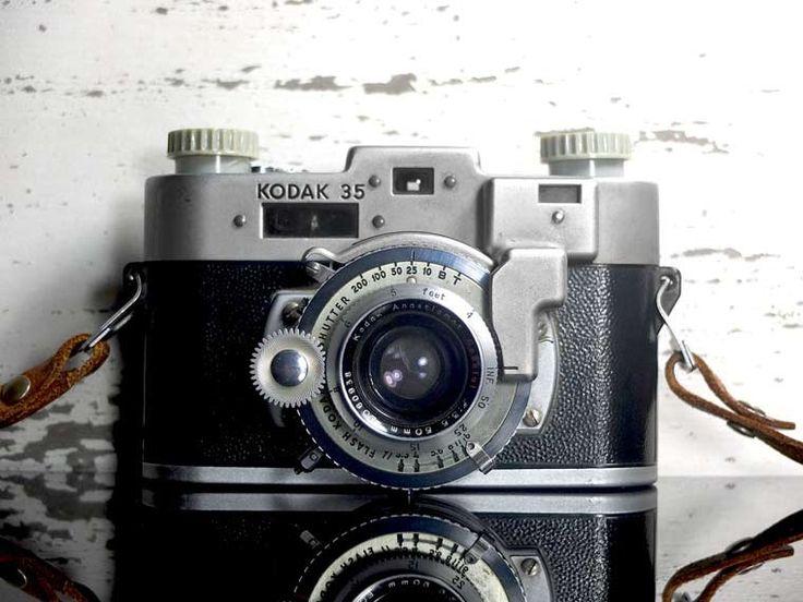 Kodak 35 RF Rangefinder Camera -  vintage camera - 35mm - Eastman Kodak by VintageCameraClub on Etsy https://www.etsy.com/listing/260809220/kodak-35-rf-rangefinder-camera-vintage
