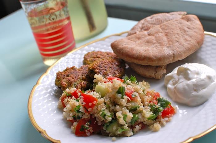 Falafel and tabouleh. emilysalomon.dk