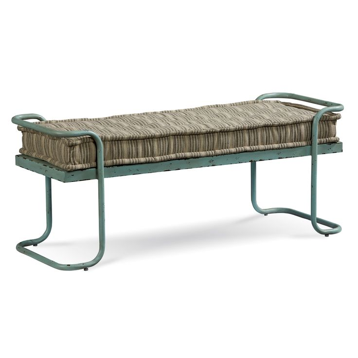 Decorate your home the transitional style of this Epicenters Williamsburg Bed Bench. Featuring a rich factory blue/ green finish, this piece adds elegance to your home. The Epicenters Williamsburg Bed