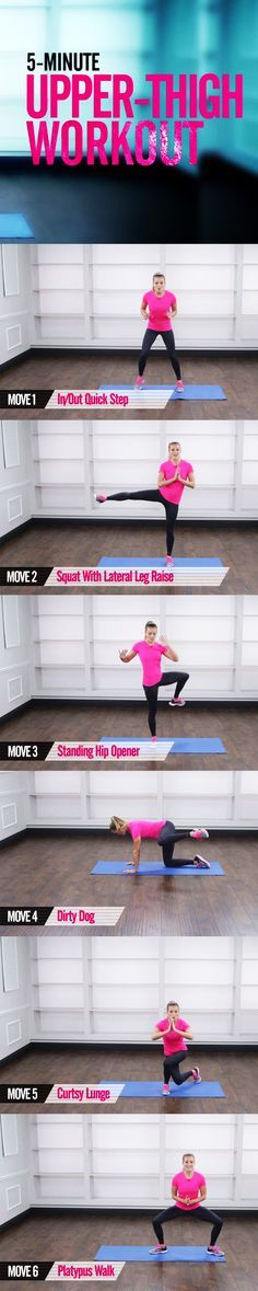 Saddebags! They are tricky to treat. You cannot spot-reduce, but along with a healthy eating plan and plenty of cardio, these moves can help tone the area. We keep your heart rate up in the quick workout so you burn maximum calories too. Press play and ge