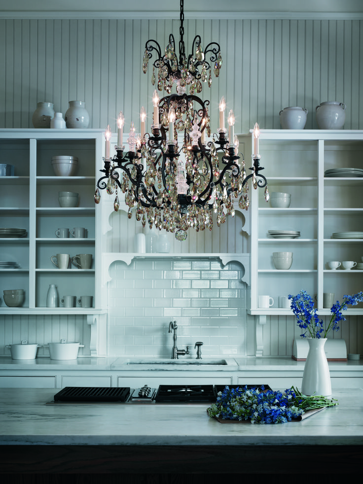 Foremost crystal chandelier brands schonbek a for French country kitchen chandelier