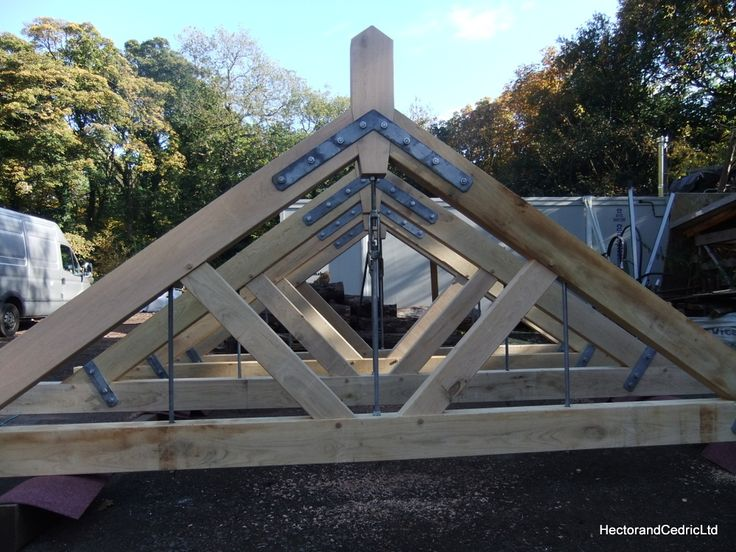 Industrial style roof trusses made from Green Oak and locally produced Ironmongery. We are often commissioned to supply roof trusses of different types for various architects and builders. They add a great feature to a new build or renovation project. Using traditional methods and techniques often working in Oak or Douglas Fir, we can create some stunning architectural finishing pieces for our clients projects. Trusses such as these can be prefabricated and then transported, assembled or…