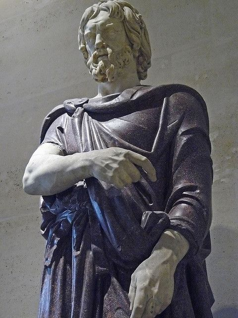 statue of a noble Dacian -Louvre museum in Paris