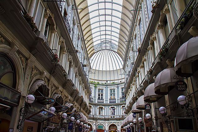 The Historic Arcades of İstiklal Caddesi on http://istanbul.for91days.com