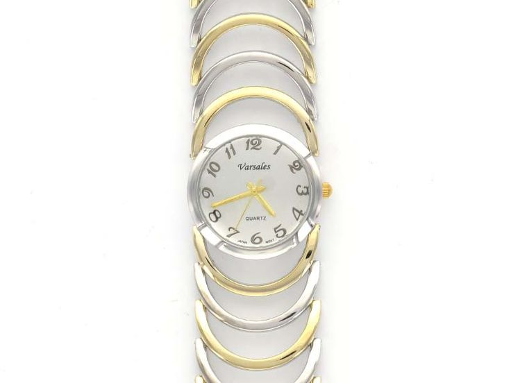 Raised Open Link Watch - With an innovative design, this watch appears raised off the wrist when worn!  Gorgeous elegant style!  Available in Silver and 2-Tone.