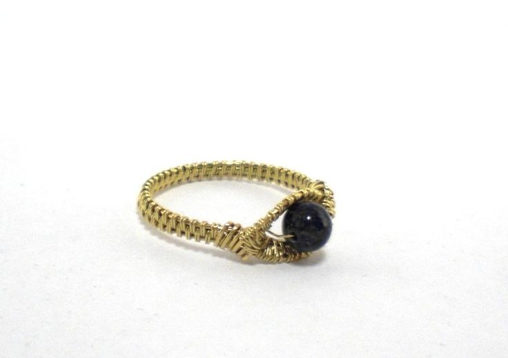 Ring ~ Messing mit Sodalith