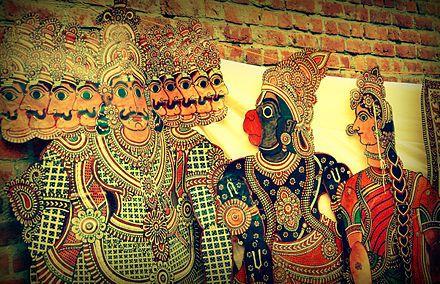 Hanuman and Ravana in Tholu Bommalata, the shadow puppet tradition of Andhra Pradesh, India