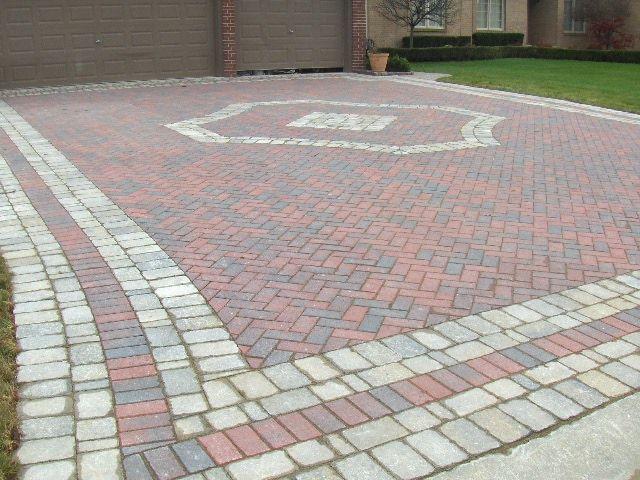 86 best inspiration for using pavers images on pinterest backyard herringbone brick paver driveway with custom tumbled border solutioingenieria Gallery