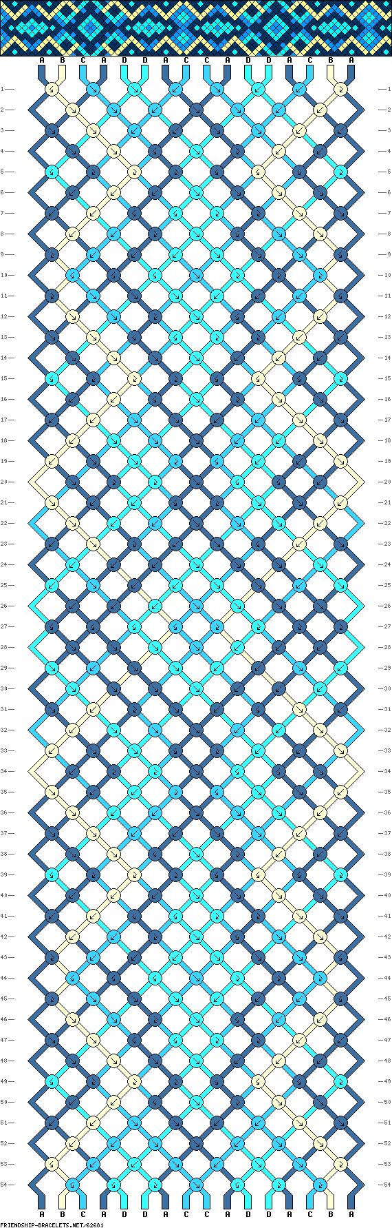 Muster # 62681, Streicher: 16 Zeilen: 54 Farben: 4