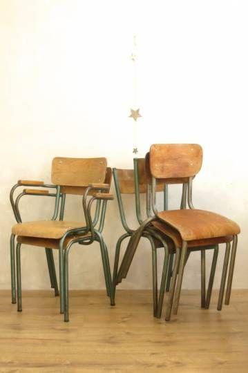 Chaises d'écolier Vintage