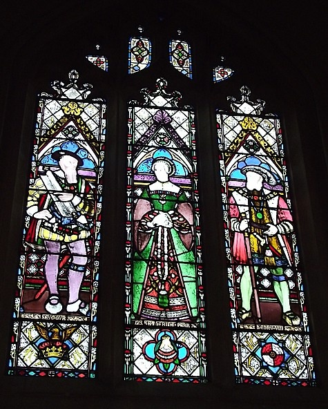 Now this is priceless...Henry VIII, Katherine Parr, and Thomas Seymour, from Sudely Castle.