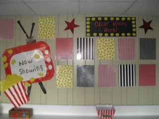 Oscar Winning Actresses- Pod Bulletin Board with teacher movie posters