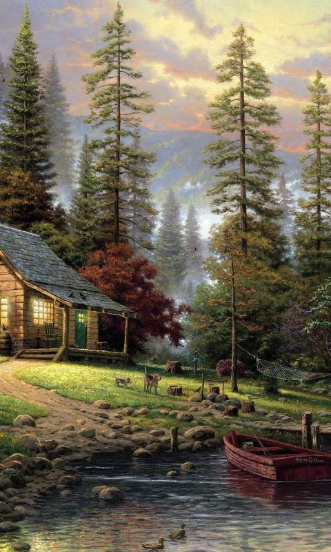 Artist: Thomas Kinkade my kind of place to go....