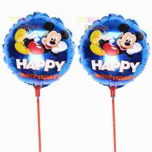 ( 20 шт./лот ) 100% mini фольги воздушный шар майларовую минни микки маус с палочки шары для ну вечеринку украшения с днем рождения поставки(China (Mainland))