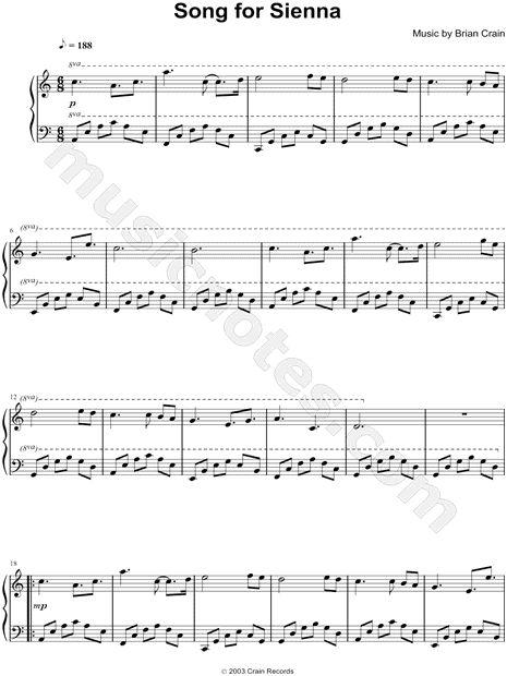 Song For Sienna Piano Sheet Music By Brian Crain Brian Crain Piano
